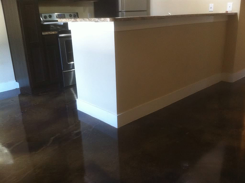 New Construction Stained Concrete Process And Pricing At 2000 Sq Ft A Typical Stain Seal Costs About 2 3 50 Per Square Foot Depending On If